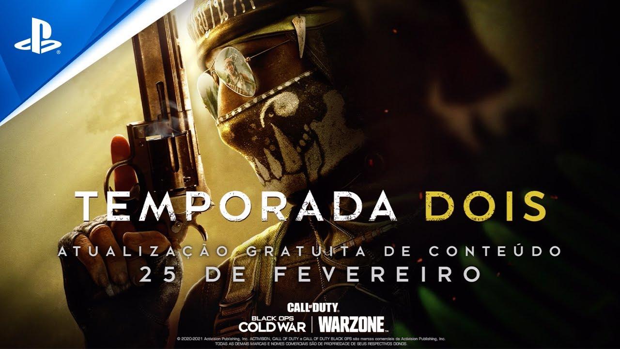 Informação importante: Temporada Dois de Black Ops Cold War e Warzone chega dia 25 de fevereiro