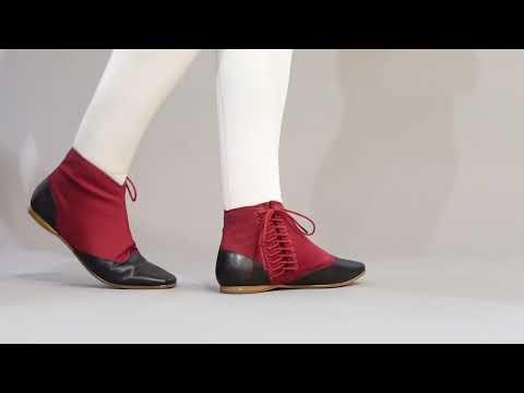 PRE-ORDER Keckley Victorian Side-Lace Boots (Burgundy/Black)