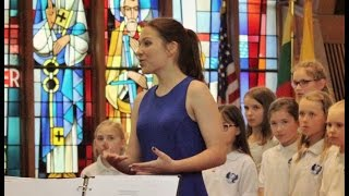 Panis Angelicus (Pavarotti & Charlotte Church) by teenage Soprano Agne G with Children's Choir