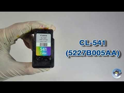 How to Refill Canon CL-541 (5227B005AA) Colour Ink Cartridge