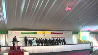 cérémonie de pose de la premiére piérre de l'université Amadou Makhtar Mbow (UAM) (3eme partie)