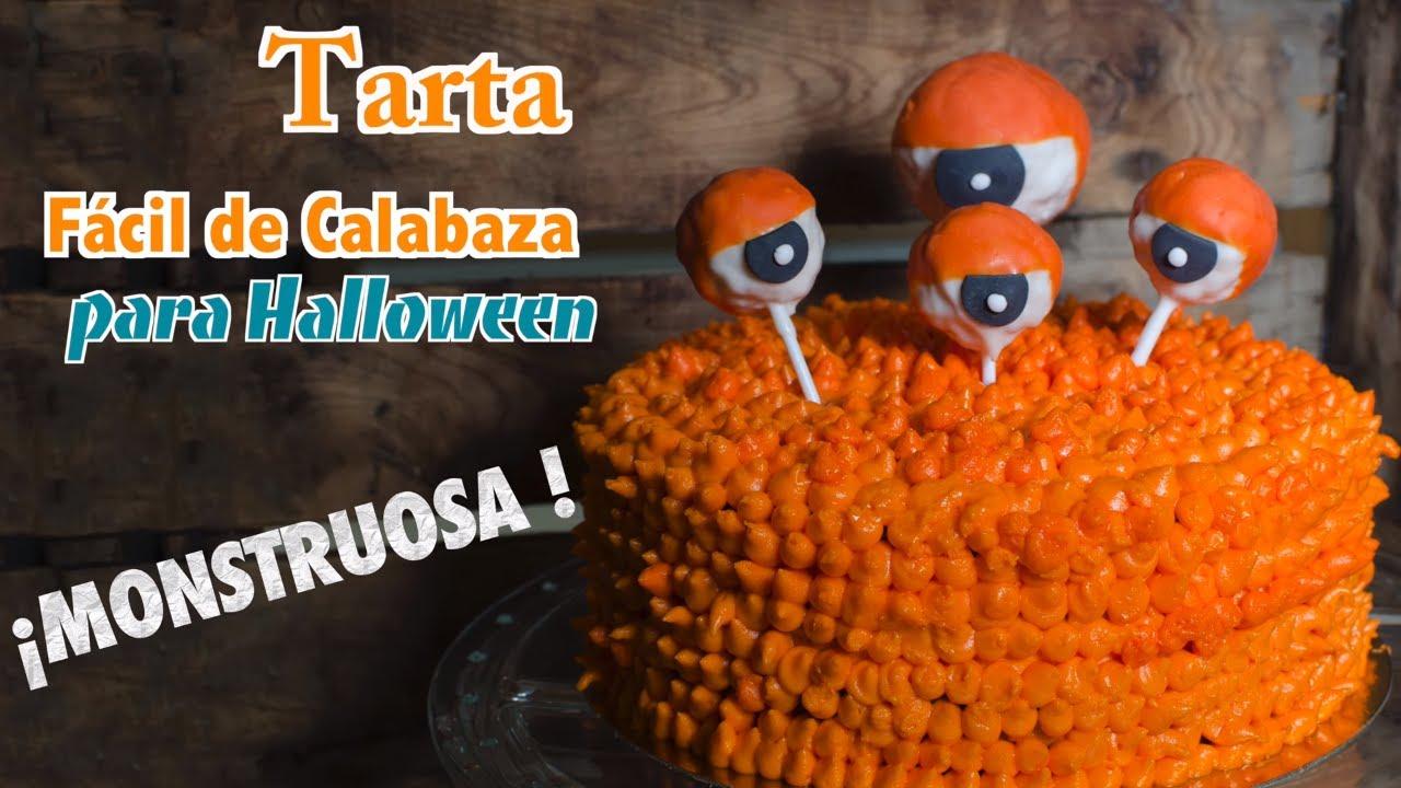 Tarta de Calabaza Fácil para Halloween ???? ???? | Pasteles de Halloween | Tortas de Halloween en 4K