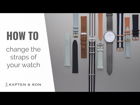 How to change the straps of your KAPTEN & SON watch
