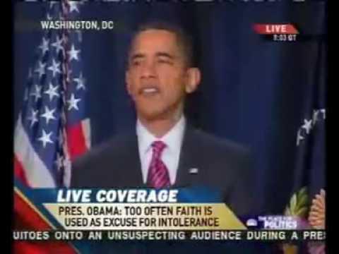 اوباما يقرأ حديث الرسول صلى الله عليه وسلم- Obama reads hdeeth