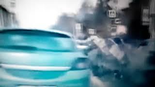 Страшная авария.Полицейский на мотоцикле разбился преследуя нарушителя