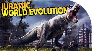 NEW JURASSIC WORLD EVOLUTION GAME - CREATING NEW DINOSAURS + BUILDING a JURASSIC PARK