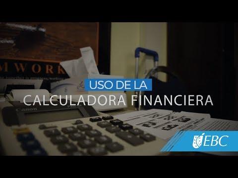 Uso de la calculadora financiera