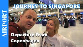 Journey to Singapore 1 - Departure from Copenhagen Airport with Lounge Tour - CPH Travel Video