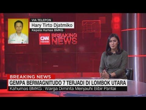 Breaking News! Gempa 7 SR Terjadi di Lombok Utara, Berpotensi Tsunami