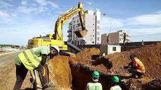 Construction des autoponts de Dakar