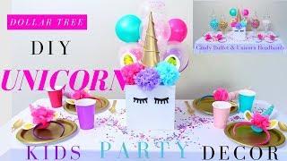 DIY Unicorn Party Ideas | Girls Party Decoration Ideas | Dollar Tree Party Decorations