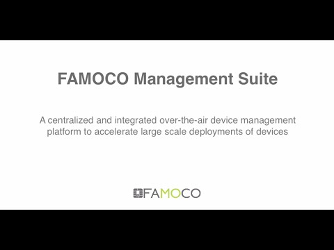 Famoco Management Suite Guided Tour
