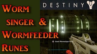 Destiny: Wormsinger & Wormfeeder Runes