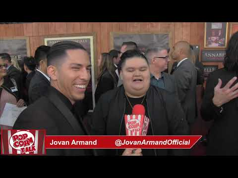 Popcorn Talk at the Annabelle Comes Home Red Carpet Premiere - Jovan Armand