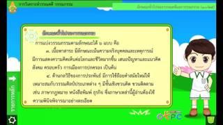 สื่อการเรียนการสอน การวิเคราะห์ วรรณคดี วรรณกรรม และบทละคร ม.2 ภาษาไทย