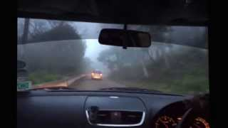 preview picture of video 'Foggy day ride to Nandi Hills on Swift :D'