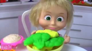 НА ДИЕТЕ #Маша и Медведь Мама Барби Мультик Кукла Барби Новая серия Кушают Пицца Спагетти ikuklatv
