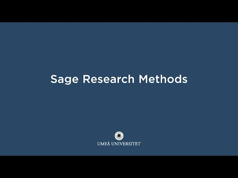Film: Sage Research Methods