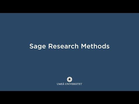Film: Sage Research Methods