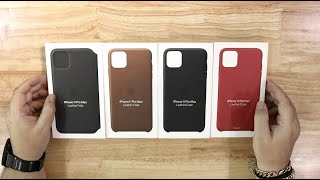 iPhone 11 Pro Max Leather Cases by Apple