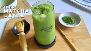 Iced Matcha Latte At Home | Non-Dairy And Healthy Matcha Drink | Home Cafe Recipe