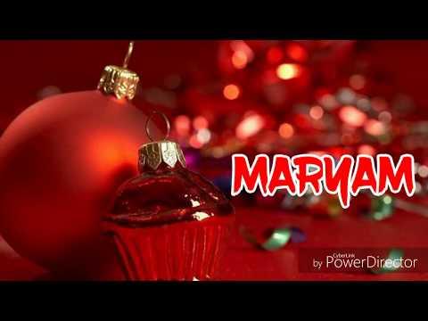 HBD MAryam    Happy Birtdhay Maryam Whatsapp Status - смотреть