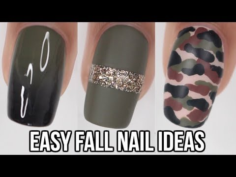 5 Quick Easy Fall Nail Ideas Olive Green Nails Gabby Morris
