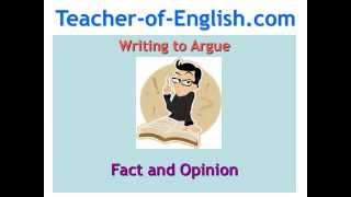 English Teaching Resources - Fact And Opinion