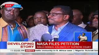Regions NASA claims it has received its evidence against President Uhuru's presidency