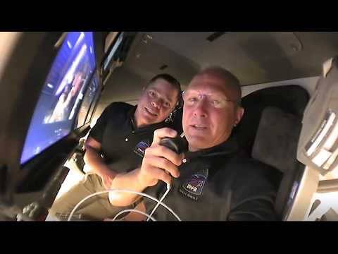Bob and Doug gives a tour of their capsule on their way to the ISS today.
