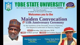 YSU - Maiden Convocation and 11th Anniversary Ceremony