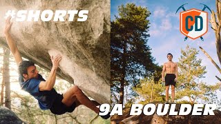 60 Second 9A Boulder - Simon Lorenzi NEWS | Climbing Daily #Shorts by EpicTV Climbing Daily