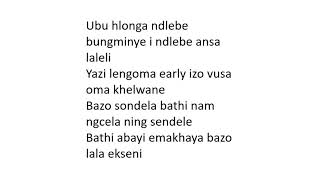 Sun El Musician Ft Mthunzi    Insimbi Lyrics