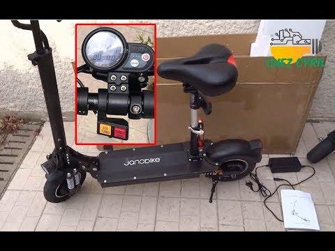 Test de la trottinette JanoBike 2000W avec double moteur et batterie puissante de 52v  23Ah