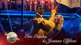 Ore Oduba & Joanne American Smooth To ­'Singin' In The Rain' - Strictly Come Dancing 2016 Final