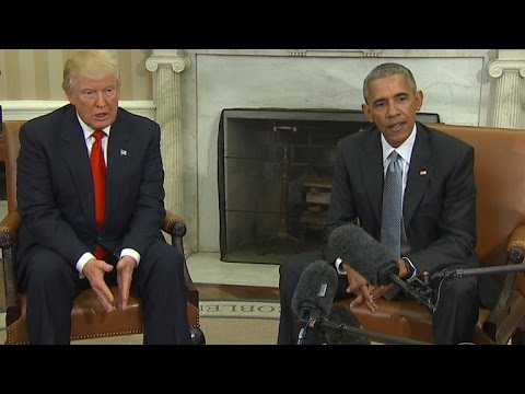President Obama and President-elect Donald Trump meet at White House