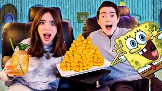 We Turned Our Movie Theater Into SPONGEBOB'S HOUSE!