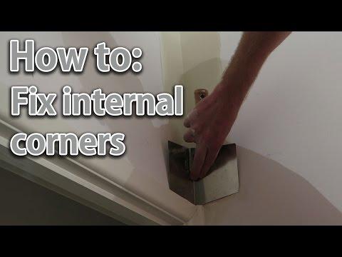 DIY fix the cracking internal corner of a drywall plaster wall