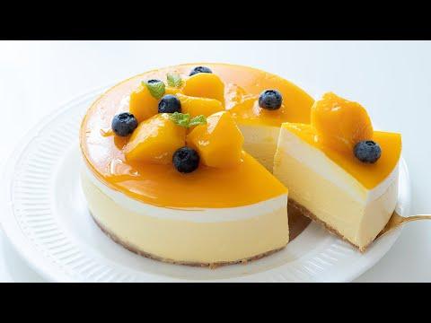 マンゴーレアチーズケーキの作り方 No-Bake Mango Cheesecake|HidaMari Cooking