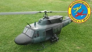 preview picture of video 'Bell UH-1/N  - Roban / Lindinger - 1347mm - T-Rex 600 - MSG Stiftland - Alfred HD'