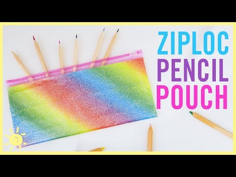 DIY | Pencil Pouch (Ziploc Bag Hack!)