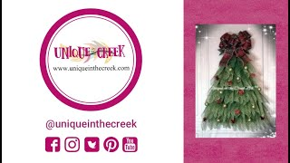 UITC™ Decomesh Christmas Tree Wreath | Easy DIY Christmas Wreath