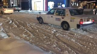 札幌恐怖の悪路!タクシーがスリップしまくり!あちこちで立ち往生!FromHokkaidochannel