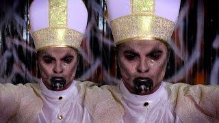 Demon Pope Halloween Makeup Tutorial