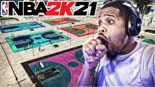 NBA 2K21 Let Me In the Neighborhood Early ! OMG NEW PARK , New Animations and ALL