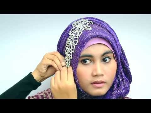 Video Hijab Tutorial 2013 With Glitter Shawl for Party