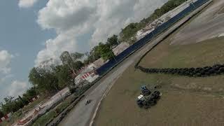 Back on track! racing with DJI FPV drone #KARTING #DJIFPV #GOKART