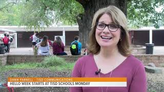 TISD is Promoting Community at School During HELLO Week