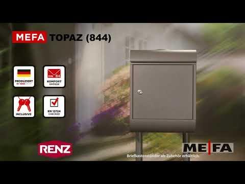 MEFA Topaz (844) Briefkasten mit Zeitungsrolle / Renz Briefkasten mit Zeitungsrolle