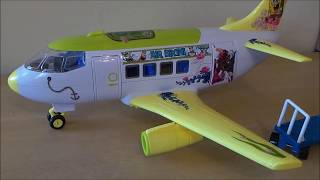 preview picture of video 'SpongeBob SquarePants Toy Unboxing Of Vacation Airbus Jet Airplane By MGTracey'